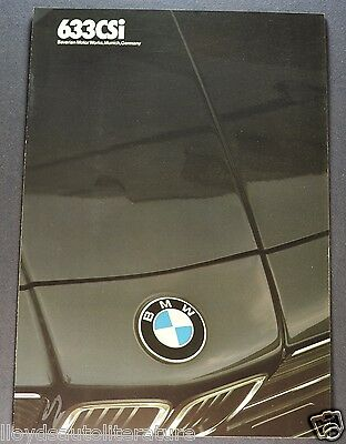 1984 BMW 633CSi Sales Brochure Folder Excellent Original 84