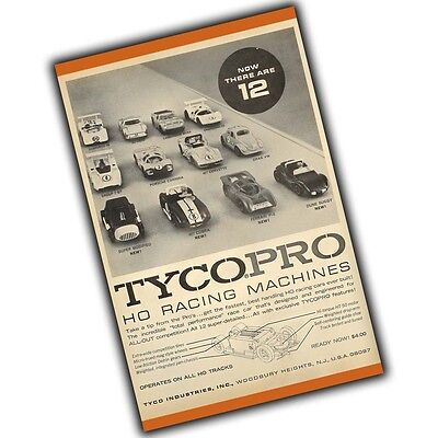 1960's Slot Car TycoPro HO Racing Machines Advertisement 4x6 Inch Magnet