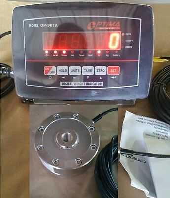 Compression Scale 10,000 x 1 lb with Low profile Load cell, Indicator Portable