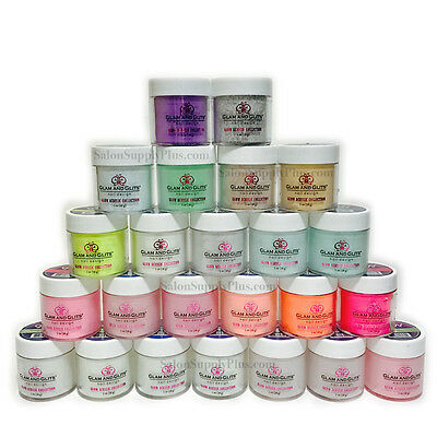 Glam and Glits Glow Acrylic Powder Collection of 24 Colors 1 oz