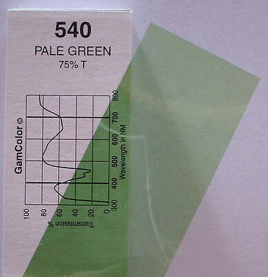 GAM  #540 Pale Green gel color media filter sheet