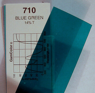 GAM  #710 Blue Green gel color media filter sheet