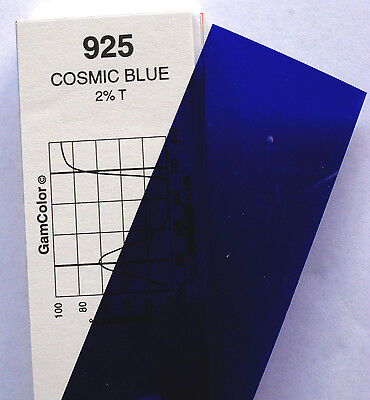 GAM  #925 Cosmic Blue gel color media filter sheet