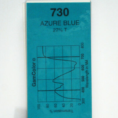 GAM  #730 Azure Blue gel color media filter sheet