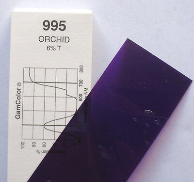 GAM  #995 Orchid gel color media filter sheet