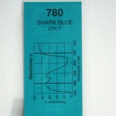 GAM  #780 Shark Blue gel color media filter sheet