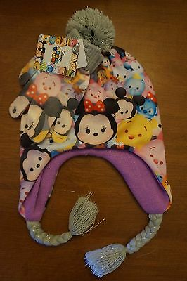 NEW Disney Tsum Tsum Girl's Cold Weather Set Beanie Style Hat and Gloves