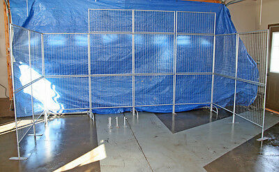 Wire mesh arts and crafts display booth, built by Graphic Display Systems.