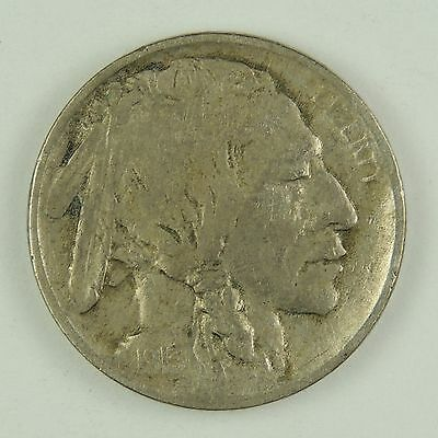 1913-P 5C Buffalo Nickel T1 Fine/VF Condition Amazing Lamination Error  (170307)