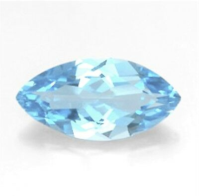 Natural Sky Blue Topaz 25mm x 8mm Marquise / Navette Cut Gem Gemstone