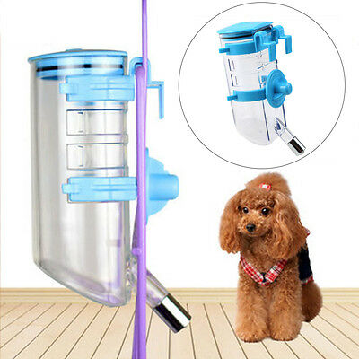 Auto Dog Rabbit Cat Pet Water Feeder Dispenser Drinker Bottle Hanger 350ML