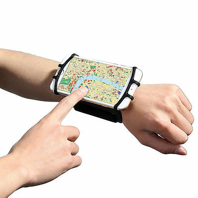 "Adjustable Running Wristband Smart Phone Wrist Holder for 4 to 5.5"" Mobile Phone"