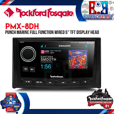 "Rockford Fosgate Pmx-8dh 5"" Display W/ Digital Media Receiver Pmx-8bb & Sxv300v1"