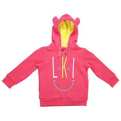 NEW Loosekid Youth Tots Happy Pink Winter Motocross LKI Girls Toddler Hoodie