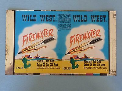 12oz Wild West Firewater Soft Drink Unrolled Can
