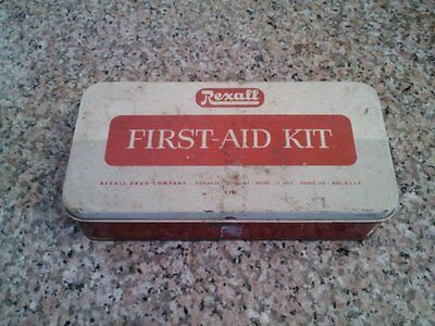 Vintage Rexall Drug Company First-Aid Tin Kit (W504)