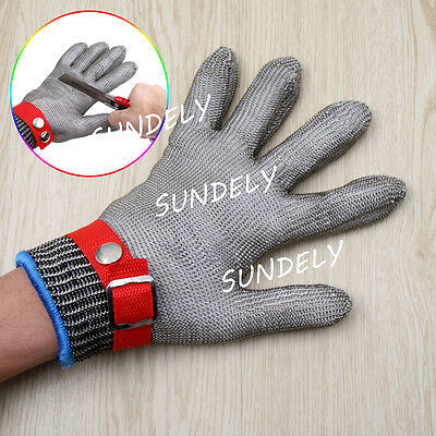 Level 5 Safety Stainless Steel Metal Mesh Butcher Gloves Cut Proof Protect Glove
