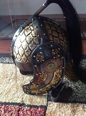 Awesome Pair Of LARP Celtic Fantasy Helm And 14th Century Knights helm!