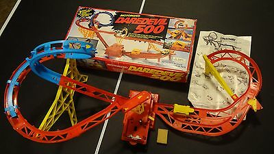 Rare Vintage Daredevil 500 Motorized Stunt Car Track w/Box/Instructions! Vision