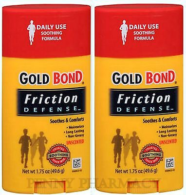 Gold Bond Friction Defense Stick Unscented 1.75 oz ( 2 pack )