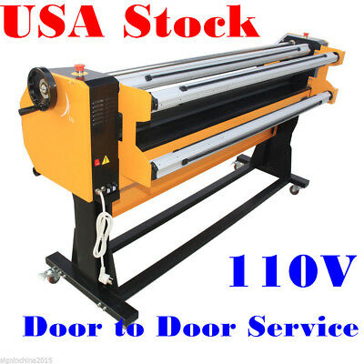 "USA Stock!! 67"" Stand Frame Full-auto Single Side Wide Format Hot/Cold Laminator"