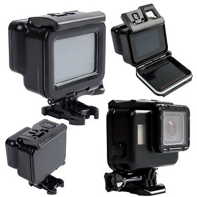 Waterproof 60M Protective Housing Case Backdoor Cover For Gopro Hero 5 Black US