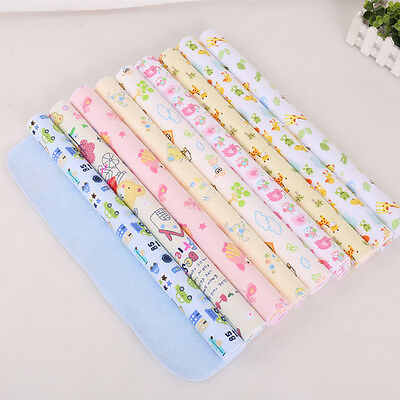 Changing Travel Newborn Baby Nappy Cotton Mat Urine Pads Waterproof Cartoon