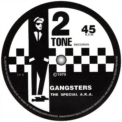 The Specials AKA. Gangsters and 1st album record label album stickers. 2 Tone.