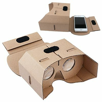 Google Cardboard 3D Glass VR Virtual Reality Headset For iPhone 6S 7 Samsung S7