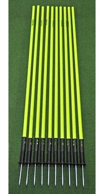 Set of 10 Agility Slalom Pole with Spring Base - 176cm