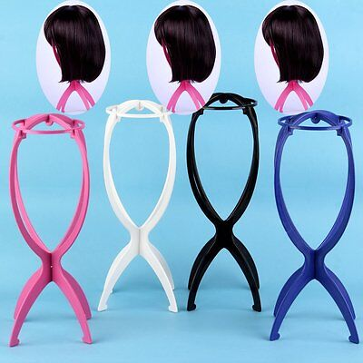 Folding Stable Durable Wig Hair Plastic Holder Stand Holder Display Tool Rack R8