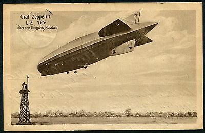 Germany 1928 Airship Luftshiff L.z.127 Graph Zeppelin  Berlin Collection Pc Used