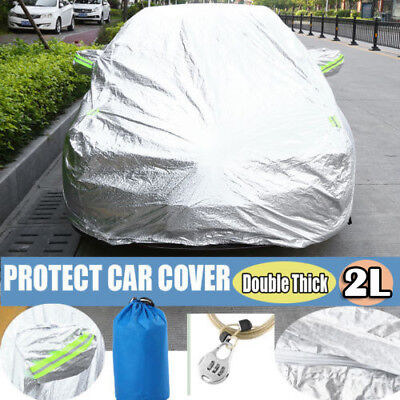 2 layers Double Thick Waterproof Car Cover Water Resistant UV Dust protection AU