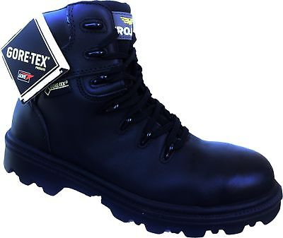 Waterproof Mens Safety Shoes TROJAN Gore-Tex S3 HRO SRC WR New