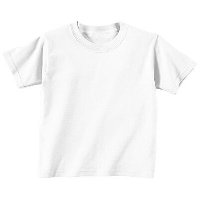 Kids Boys Girls Short Sleeve Basic Plain White T-shirt Top - 1/2  3/4 Years