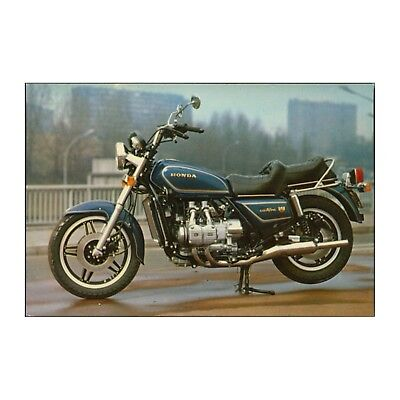 Early Honda Gold Wing Motorcycle Touring Goldwing Motor Bike Postcard