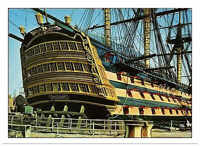 Hms Victory Stern View Showing Gingerbreads Portsmouth Drydock Nelson Trafalgar