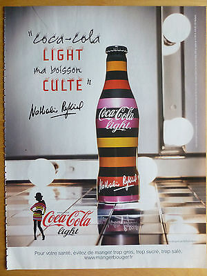 Advertising Publicité BOISSON COCA COLA LIGHT 2009 NATHALIE RYKIEL