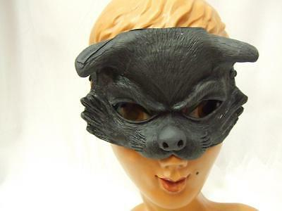 Cat Mask Latex Rubber Witch Horror Halloween Small Half Mask