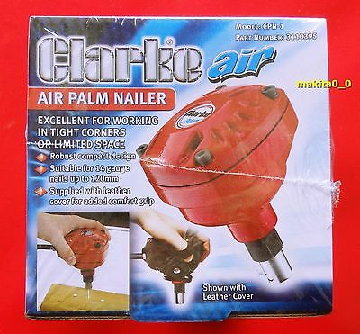 Clarke CPN-1, Palm Air Nailer 14 Gauge Nails Up To 120mm + Leather Cover
