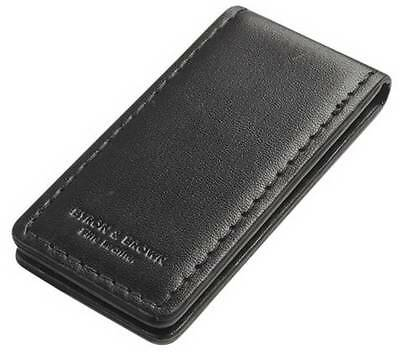 Byron and Brown Leather Money Clip  - Black