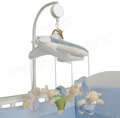 Baby Crib Mobile Bed Bell Toy Holder Arm Bracket and Wind-up Music Box