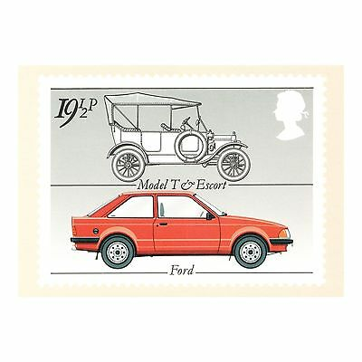 Model T Ford & Escort - British Motor Cars - Royal Mail Series Phq 63 Postcard
