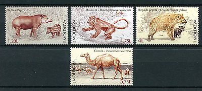 Moldova 2016 MNH Extinct Wild Animals Tapirs Hyenas Camels Monkeys 4v Set STamps