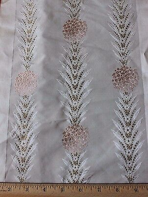Pink & Gold Antique French Silk Brocade Ribbon Sample c1880-1890~Dolls,Design