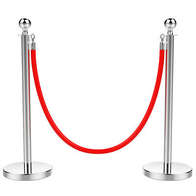 Crowd Control Barrier Poles Stanchions With Retractable Belt Stanchion Post Rope
