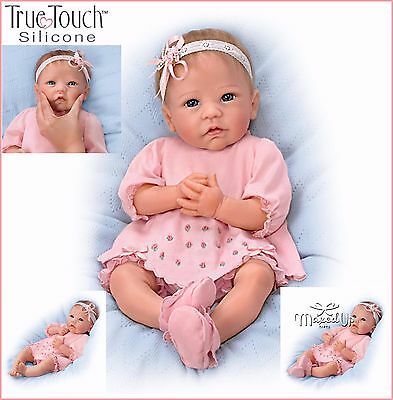Ashton-Drake Claire baby Girl Doll - Silicone - Weighted - Rooted Hair