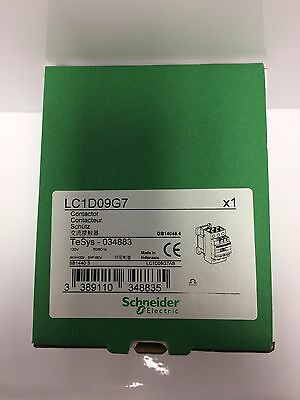 Schneider Electric, Lc1D09G7 Contactor, 120Vac Coil, 3-Pole, Brand New!