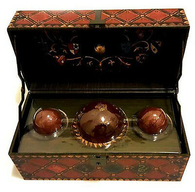 Harry Potter Quidditch Set Collectible Deluxe Chest Decorative Golden Snitch NEW