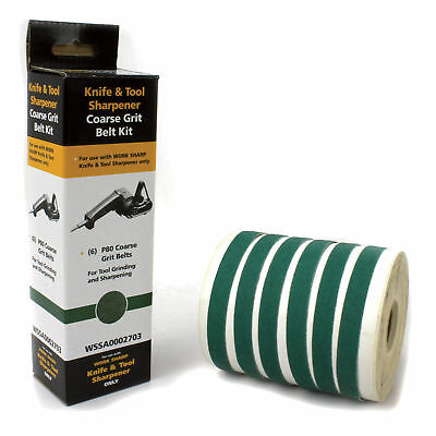 Work Sharp Knife & Tool Sharpener Replacement Belts - 6Pk P80 Coarse